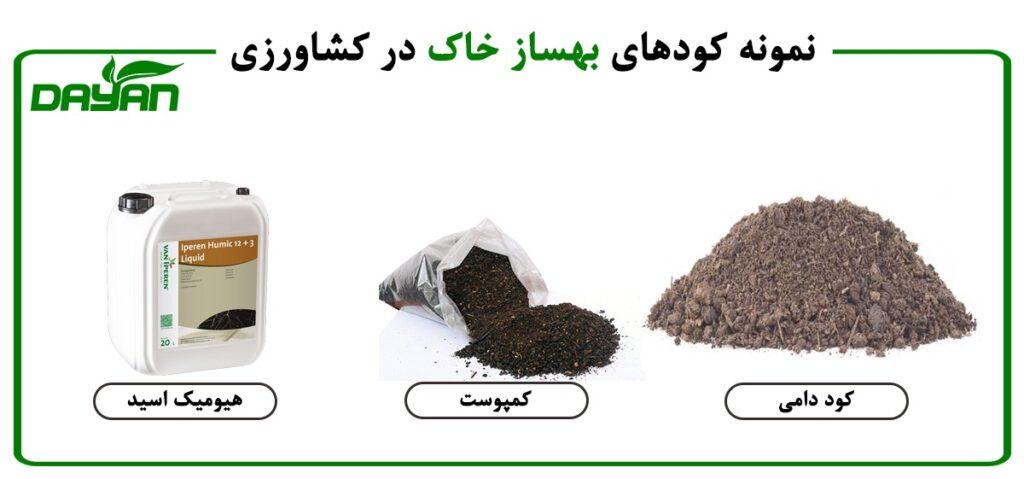 نمونه کودهای بهساز خاک